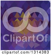 Clipart Of A Low Poly Abstract Geometric Background Of Dark Violet Royalty Free Vector Illustration