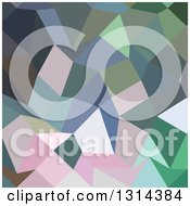 Clipart Of A Low Poly Abstract Geometric Background Of Light Pastel Purple Royalty Free Vector Illustration