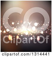 Clipart Of A Background Of Bright Lights Royalty Free Vector Illustration