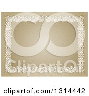Clipart Of A Certificate Design With An Orante White Lace Border Over A Pattern Royalty Free Vector Illustration