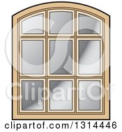 Clipart Of A Rounded Top Wooden Window Frame Royalty Free Vector Illustration by Lal Perera