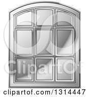 Clipart Of A Rounded Top Silver Window Frame Royalty Free Vector Illustration by Lal Perera