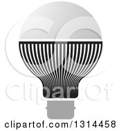 Clipart Of A Black And Gray LED Light Bulb Royalty Free Vector Illustration by Lal Perera