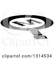 Clipart Of A 3d Letter M Magnifying Glass Shaped Hole Royalty Free Vector Illustration by Lal Perera