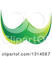Clipart Of A Green Abstract Letter W Royalty Free Vector Illustration by Lal Perera