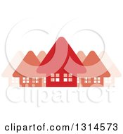 Clipart Of A Neighborhood Of Red Homes Royalty Free Vector Illustration by Lal Perera