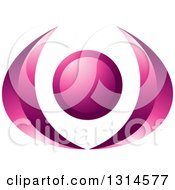 Clipart Of A Gradient Purple Abstract Person With Their Arms Up Royalty Free Vector Illustration