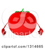 Clipart Of A 3d Tomato Character Royalty Free Illustration by Julos