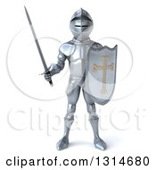 Clipart Of A 3d Armored Knight Royalty Free Illustration by Julos