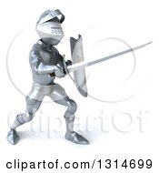 Clipart Of A 3d Armored Knight Fighting With A Sword 4 Royalty Free Illustration by Julos