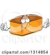 Clipart Of A Cartoon Whole Bread Loaf Character Royalty Free Vector Illustration