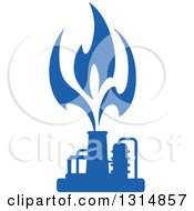 Clipart Of A Blue Natural Gas And Flame Design 7 Royalty Free Vector Illustration