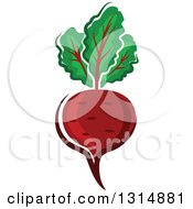 Cartoon Beet With Greens