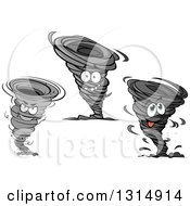 Clipart Of Twister Tornado Characters Royalty Free Vector Illustration by Vector Tradition SM