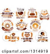 Clipart Of Bakery Goods And Text Royalty Free Vector Illustration by Vector Tradition SM