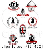 Clipart Of Chess Game Designs With Text 2 Royalty Free Vector Illustration by Vector Tradition SM