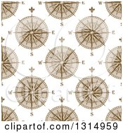 Clipart Of A Seamless Patterned Background Of Compasses 4 Royalty Free Vector Illustration by Vector Tradition SM