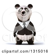 Clipart Of A 3d Happy Business Panda Royalty Free Illustration