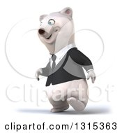 3d Business Polar Bear Walking Slightly To The Left
