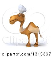 Clipart Of A 3d Happy Chef Camel Facing Left Royalty Free Illustration