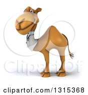 Clipart Of A 3d Doctor Camel Facing Left And Looking At The Viewer Royalty Free Illustration