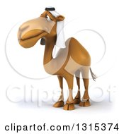 Clipart Of A 3d Arabian Camel Facing Slightly To The Left Royalty Free Illustration