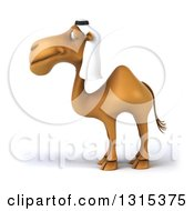 Clipart Of A 3d Arabian Camel In Profile Facing Left Royalty Free Illustration