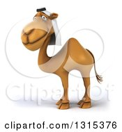 Clipart Of A 3d Arabian Camel Facing Left And Smiling At The Viewer Royalty Free Illustration