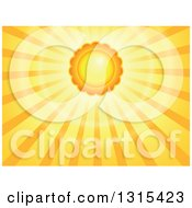 Clipart Of A Cartoon Sun With Sunset Rays Royalty Free Vector Illustration