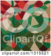 Clipart Of A Low Poly Abstract Geometric Background Of Amazon Green Royalty Free Vector Illustration