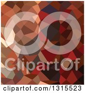 Clipart Of A Low Poly Abstract Geometric Background Of Dark Pastel Red Royalty Free Vector Illustration