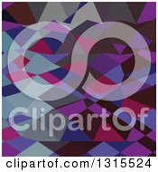 Clipart Of A Low Poly Abstract Geometric Background Of Deep Magenta Royalty Free Vector Illustration