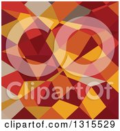 Clipart Of A Low Poly Abstract Geometric Background Of Carnelian Red Royalty Free Vector Illustration