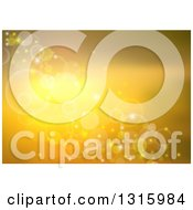 Clipart Of A Gradient Golden Background With Flares Bubbles And Sparkles Royalty Free Vector Illustration by dero