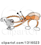 Cartoon Mosquito Sharpening His Stinger