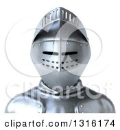 Clipart Of A 3d Armored Knight Avatar Royalty Free Illustration
