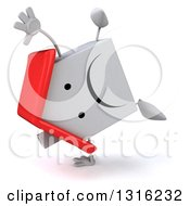 Clipart Of A 3d Unhappy White House Character Cartwheeling Royalty Free Illustration
