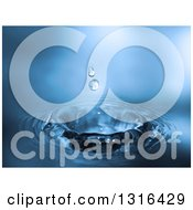 Clipart Of A Blurred Blue Water Drop Background Royalty Free Vector Illustration