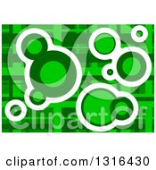 Clipart Of A Green Geometric Background With Circles Royalty Free Vector Illustration
