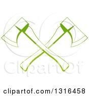 Gradient Green Tree Surgeon Logo Of Crossed Axes