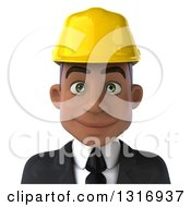Clipart Of A 3d Avatar Of A Young Black Male Architect Royalty Free Illustration