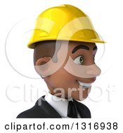 Clipart Of A 3d Avatar Of A Young Black Male Architect Facing Right Royalty Free Illustration
