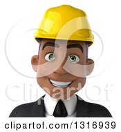 Clipart Of A 3d Avatar Of A Young Black Male Architect 2 Royalty Free Illustration