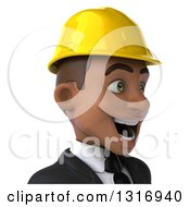 Clipart Of A 3d Avatar Of A Young Black Male Architect Facing Right 2 Royalty Free Illustration