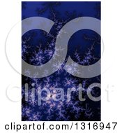 Purple And Dark Blue Fractal Spiral Background