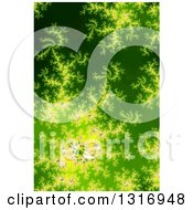 Glowing Green Fractal Spiral Background