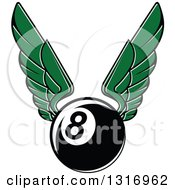 Clipart Of A Winged Billiards Eightball Royalty Free Vector Illustration by Seamartini Graphics
