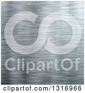 Clipart Of A Brushed Aluminum Texture Background Royalty Free Illustration
