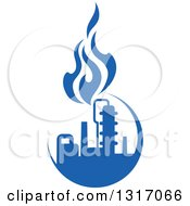 Clipart Of A Blue Natural Gas And Flame Design 8 Royalty Free Vector Illustration