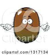 Clipart Of A Cartoon Kiwi Fruit Character Pointing And Giving A Thumb Up Royalty Free Vector Illustration